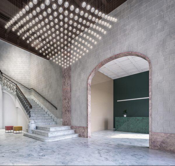 lobby v07 1 600x571 - La unión de historia y lujo en pleno centro de Barcelona