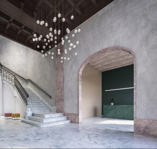 lobby v07a 1 600x571 - La unión de historia y lujo en pleno centro de Barcelona