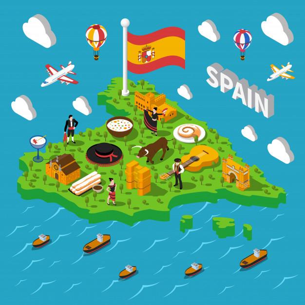 mapa isometrico espana ilustracion 1284 8946 - España es el país más atractivo del mundo para el turismo