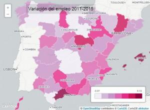 mapa ocupacion 300x220 - Economía y empleo en 5 mapas: ¿Qué ciudad tiene más parados, dónde hay más ocupación?