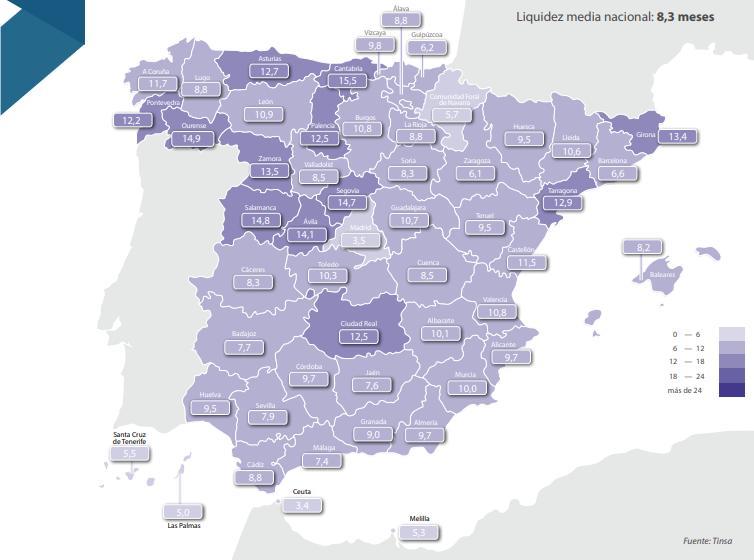 ¿Cuánto tiempo tardan los españoles en vender una propiedad?