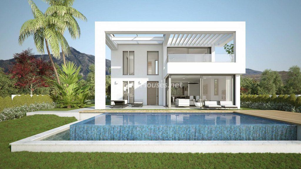 modelo1 casa 1024x576 - Buena Vista Hills, 26 villas modernas con vistas al mar en Mijas (Costa del Sol, Málaga)