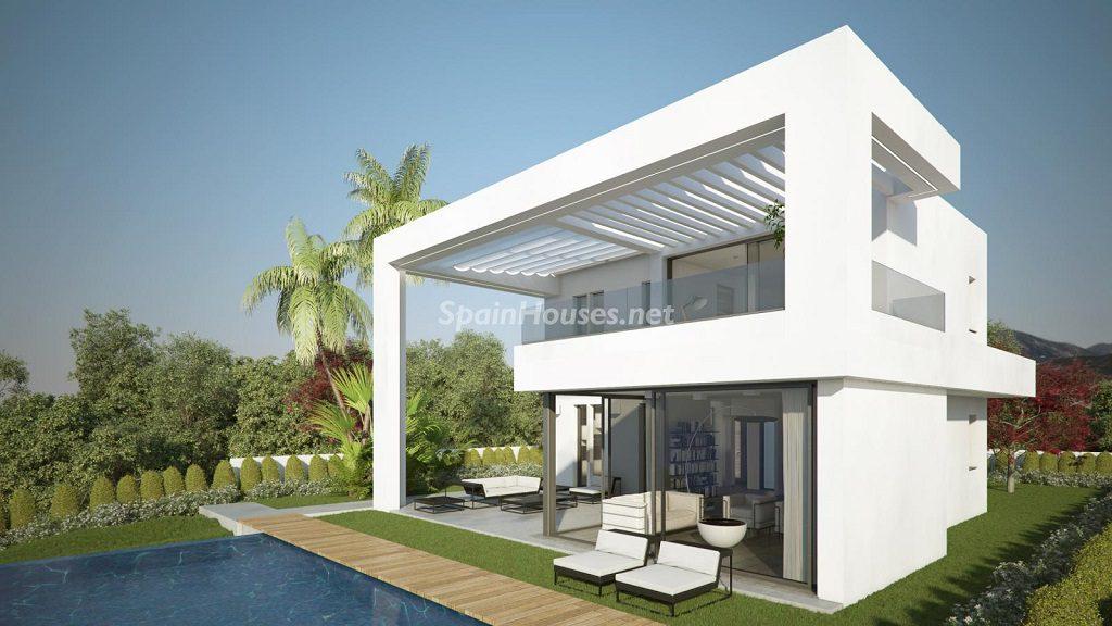 modelo1 casaypiscina 1024x576 - Buena Vista Hills, 26 villas modernas con vistas al mar en Mijas (Costa del Sol, Málaga)