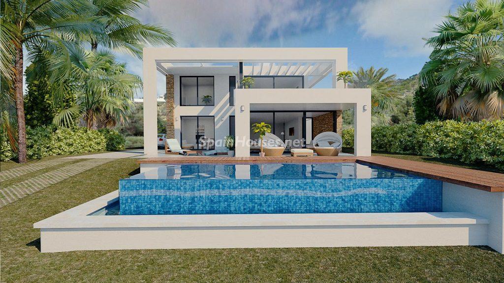 modelo3 casayjardin 1024x576 - Buena Vista Hills, 26 villas modernas con vistas al mar en Mijas (Costa del Sol, Málaga)