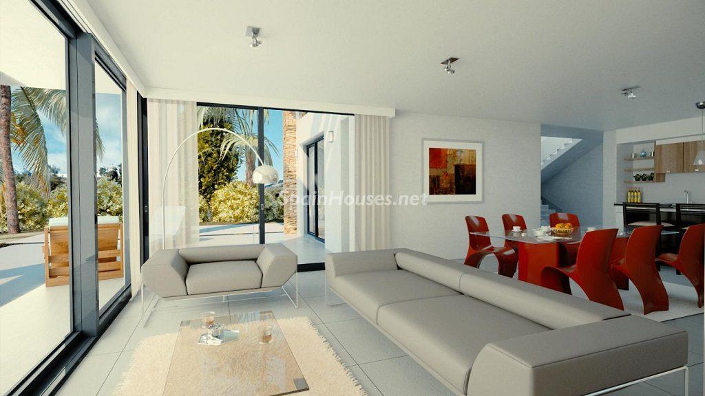 modelo3 salon 1024x576 - Buena Vista Hills, 26 villas modernas con vistas al mar en Mijas (Costa del Sol, Málaga)
