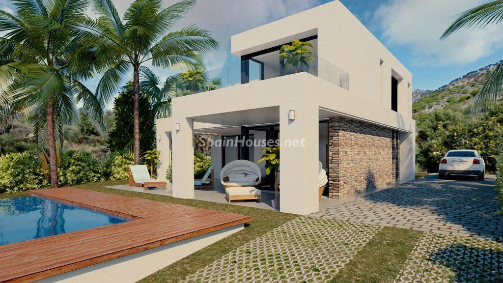 modelo4 casayjardin 1024x576 - Buena Vista Hills, 26 villas modernas con vistas al mar en Mijas (Costa del Sol, Málaga)