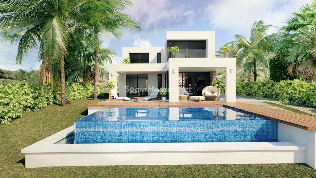 modelo4 casaypiscina 1024x576 - Buena Vista Hills, 26 villas modernas con vistas al mar en Mijas (Costa del Sol, Málaga)
