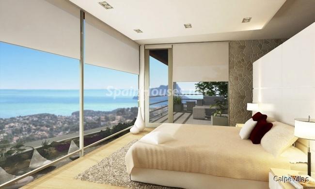 moraira alicante - 5 fantásticas casas y 3 bonitos pisos con geniales dormitorios que miran al mar
