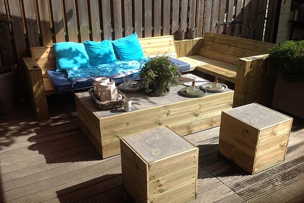 muebles palets - Ideas para decorar una terraza fáciles y asequibles