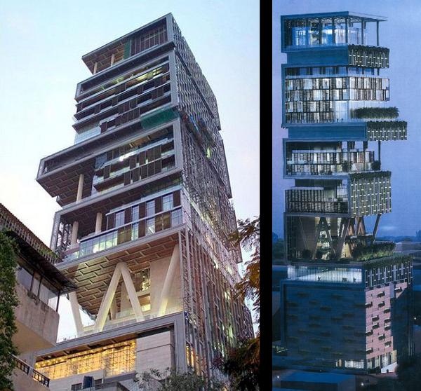 mumbaitower4 - La casa más grande y cara del mundo, en la India