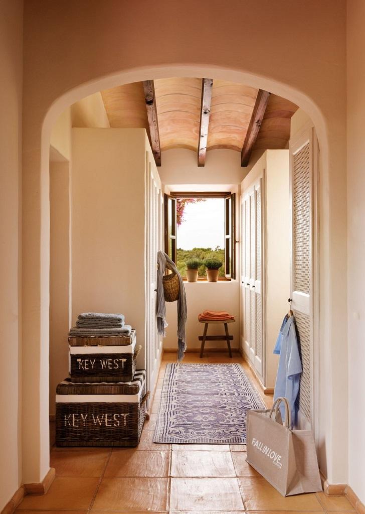 pasillo1 - Paraíso de luz y buganvillas en una preciosa casa en Santanyí (Mallorca, Baleares)