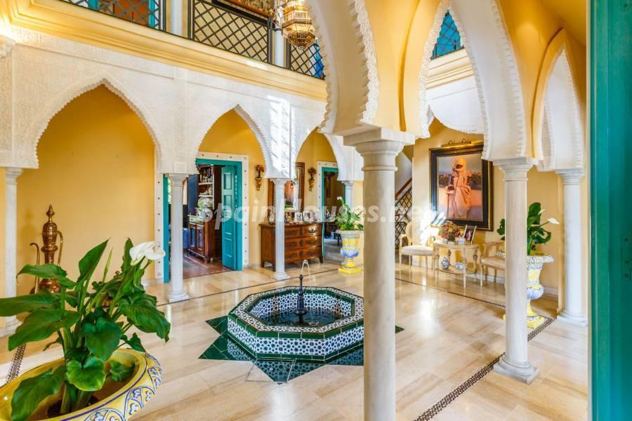 patio 1 - Estilo mudéjar lleno de encanto en un espectacular chalet en el Aljarafe de Sevilla