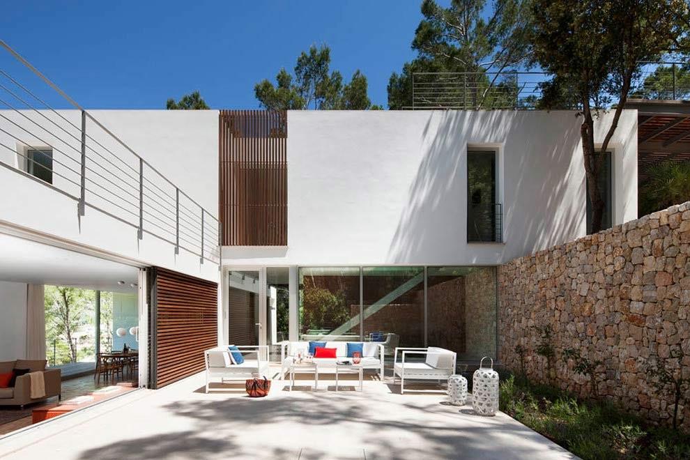 patio 8 - Diseño modular y mediterráneo en una genial casa en Pollensa (Mallorca, Baleares)