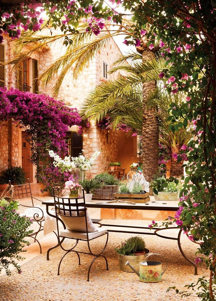 patio7 - Paraíso de luz y buganvillas en una preciosa casa en Santanyí (Mallorca, Baleares)
