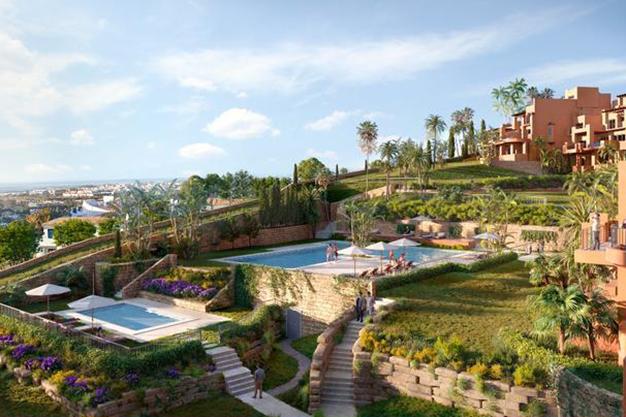 piscina apartamento marbella - Lujoso apartamento en el centro de Marbella, a 5 minutos de Puerto Banús