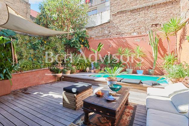 piscina terraza barcelona - Este amplio apartamento con piscina en Barcelona es ideal para descansar y disfrutar de la ciudad