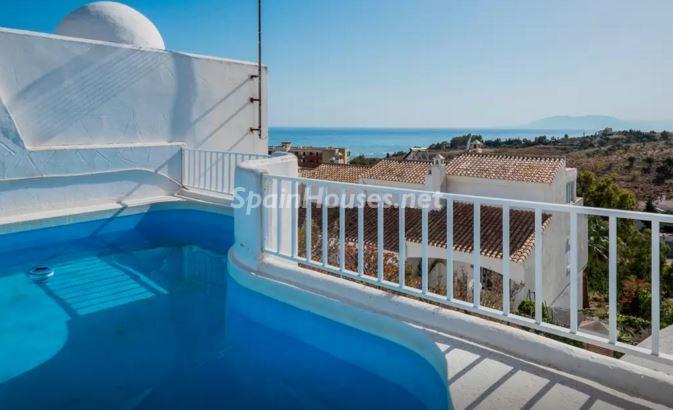 piscina117 - Luz, sol y mar en un precioso chalet en alquiler en Benajarafe (Costa del Sol, Málaga)