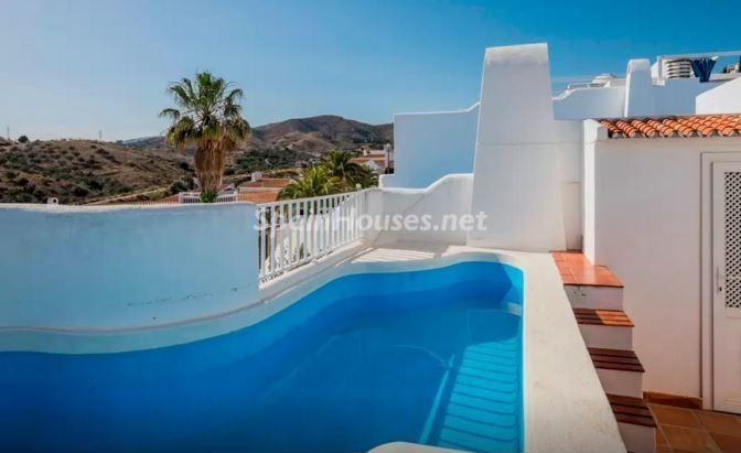 piscina212 - Luz, sol y mar en un precioso chalet en alquiler en Benajarafe (Costa del Sol, Málaga)
