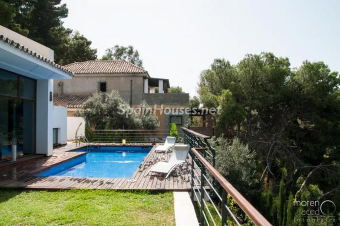 piscina32 - Lujo lleno de encanto en un precioso chalet en Pinares de San Antón, Málaga