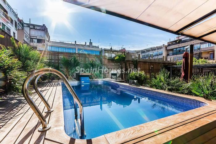piscina41 - Precioso piso lleno de detalles, elegancia y lujo en el Eixample de Barcelona