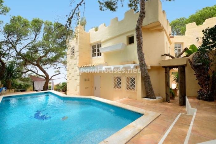 piscina42 - Serena y romántica villa en primera línea de mar en Cala Vadella, Ibiza