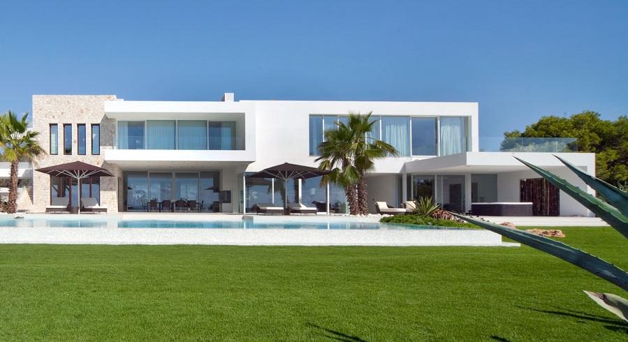 piscinaycasa3 - Espectacular y luminosa casa de diseño frente al mar en Cala d'Or, Santanyí (Mallorca)