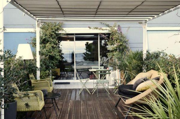 plantas terraza 1 600x398 - Ideas para decorar una azotea o patio pequeño y crear un espacio del que disfrutar