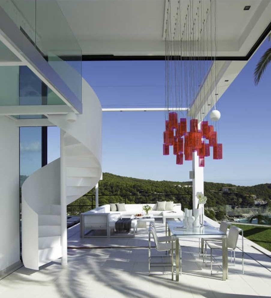 porcheyescaleras bis - Diseño en el acantilado en una fantástica casa en Tossa de mar (Costa Brava, Girona)