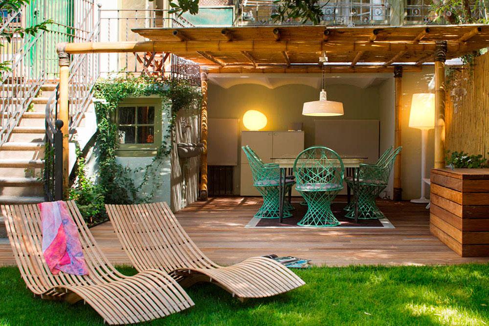 """Toque """"Art Novou"""" con jardín en una elegante casa modernista en Barcelona"""