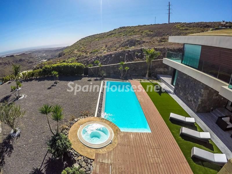 porcheypiscina 5 - Fantástica casa de diseño moderno en Monte León, San Bartolomé de Tirajana (Las Palmas)