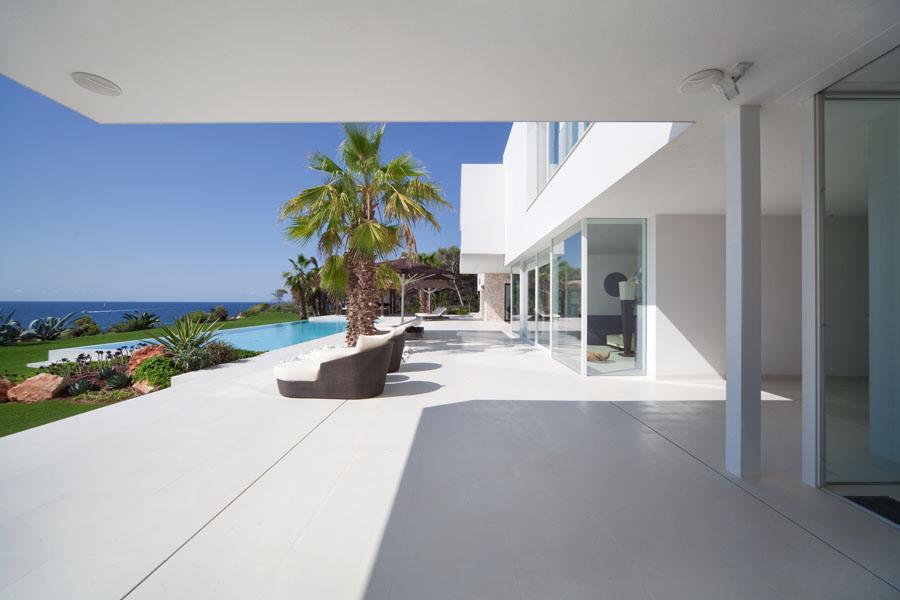 porcheyvistas2 - Espectacular y luminosa casa de diseño frente al mar en Cala d'Or, Santanyí (Mallorca)