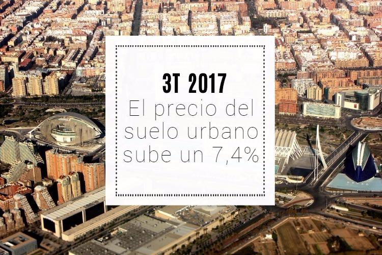 El precio del suelo urbano experimenta una subida del 7,4% en la última etapa del año