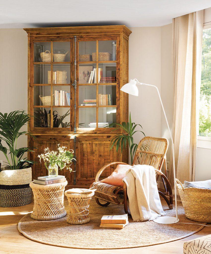 rincon de lectura con plantas 6e9fb1ee 851x1024 - Tips para decorar tu primer piso