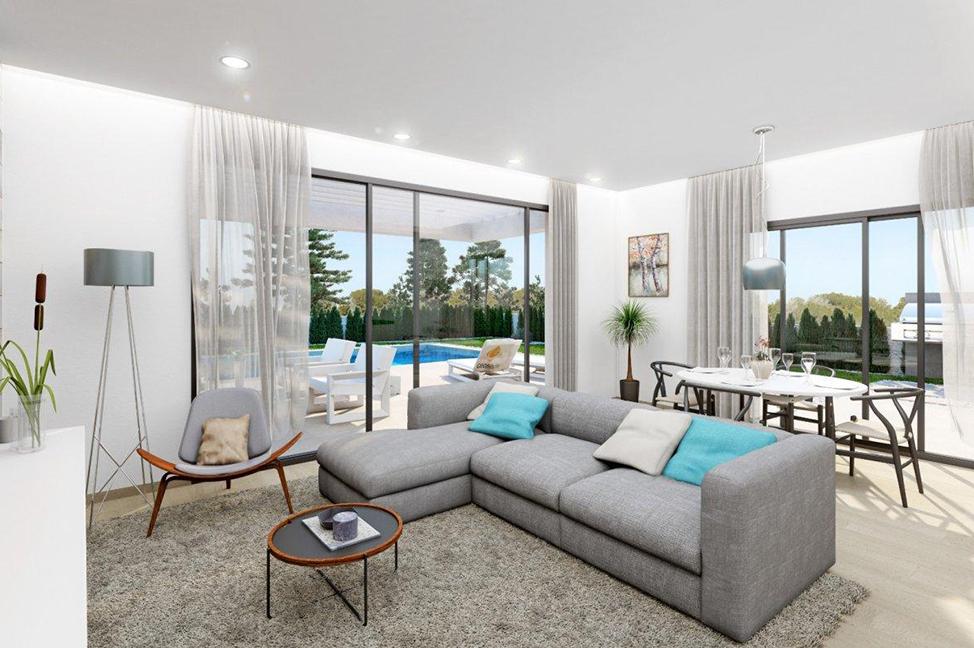 salón 1 1 - Impresionante villa en Alicante, moderna y con amplias zonas verdes