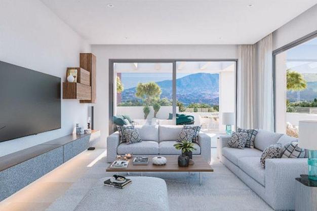 salón 2 5 - Ático de lujo en Mallorca: moderno, minimalista y de alto diseño