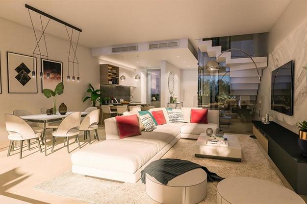 salón 3 1 - Exclusiva casa con piscina en la Costa del Sol