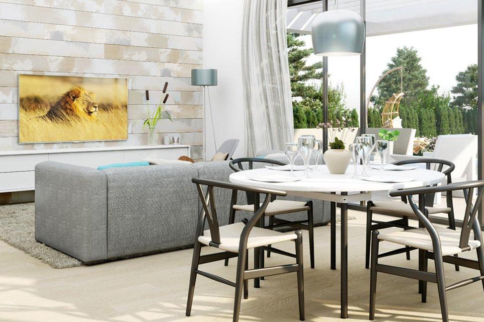 salón 3 - Impresionante villa en Alicante, moderna y con amplias zonas verdes