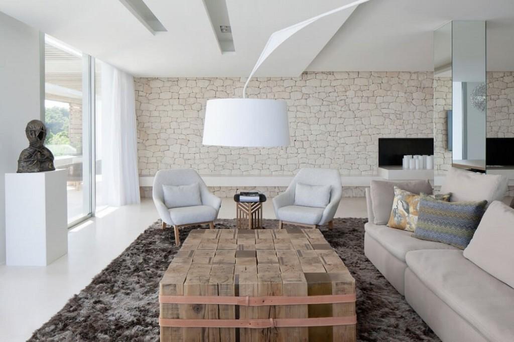 salon 12 1024x682 - Espectacular y moderna villa en Roca LLisa (Ibiza): sereno minimalismo con vistas