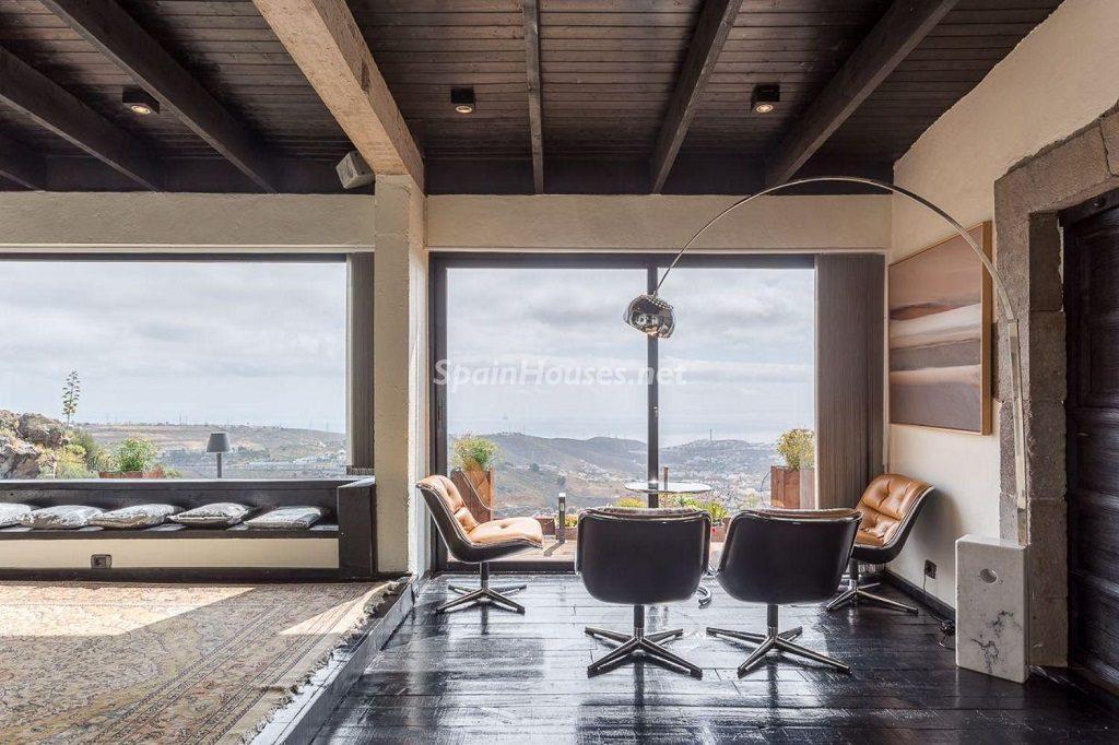 salon 31 1024x682 - Elegante y sereno toque otoñal en una bonita casa en Tafira, Las Palmas de Gran Canaria