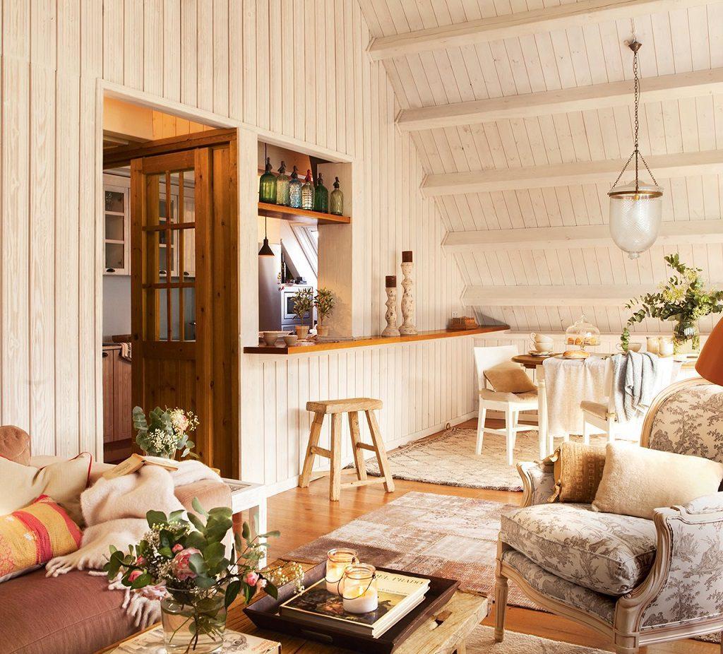 salon 40 1024x926 - Precioso refugio en Baqueira (Valle de Arán): nieve, montaña y calidez en Lleida