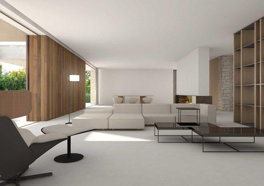 salon 47 1024x724 - En La Cañada, casa contemporánea y minimalista a 5 km de Valencia