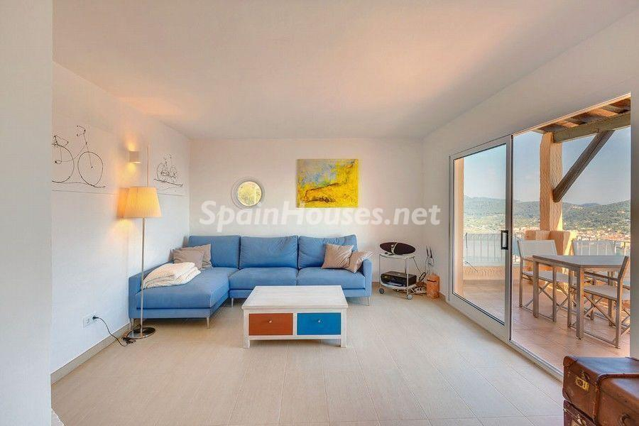 salon 61 - Terraza de sol y geniales vistas al mar en Puerto de Andratx, Mallorca (Baleares)
