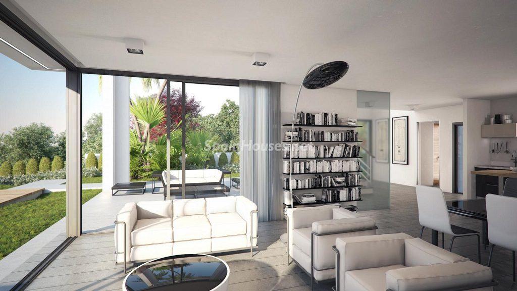 salon 68 1024x576 - Buena Vista Hills, 26 villas modernas con vistas al mar en Mijas (Costa del Sol, Málaga)