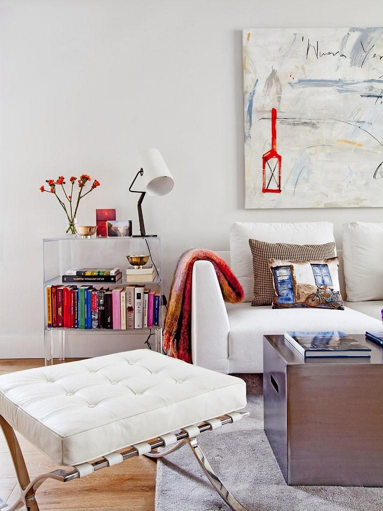 """salon 768x1024 - Toque """"trendy"""" en Madrid, en un precioso loft cálido, femenino y moderno"""