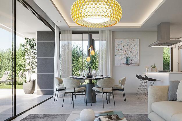 salon 77 - Villa de lujo en Málaga: diseño moderno con vistas al Mar Mediterráneo
