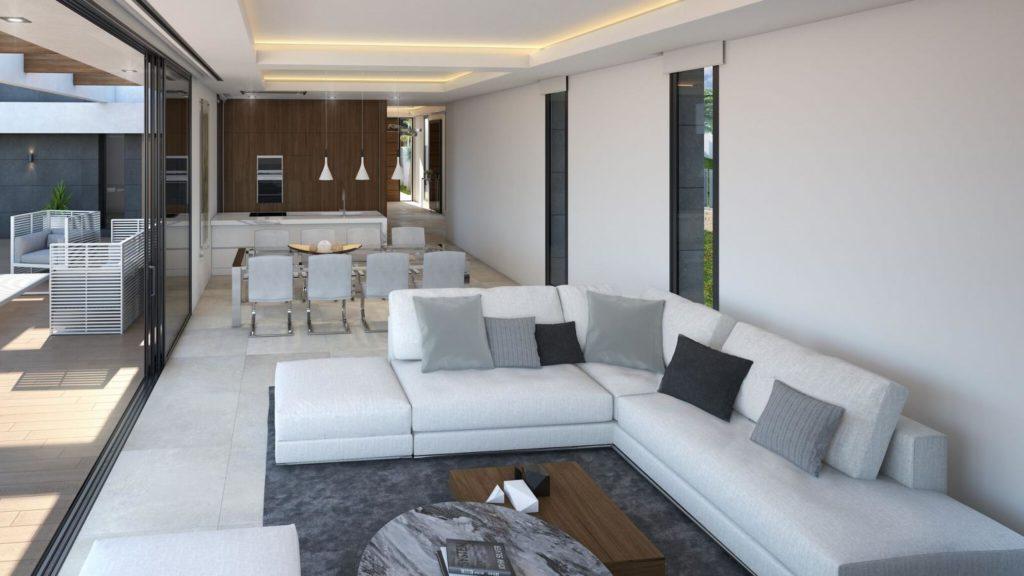 salon comedor 17 1024x576 - A la venta una de las villas más espectaculares de Alicante con increíbles vistas al mar