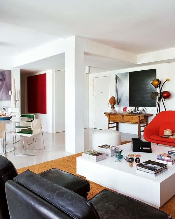 salon comedor1 5 - Colores de la tierra y diseño en una fantástica casa en Mojácar (Almería)