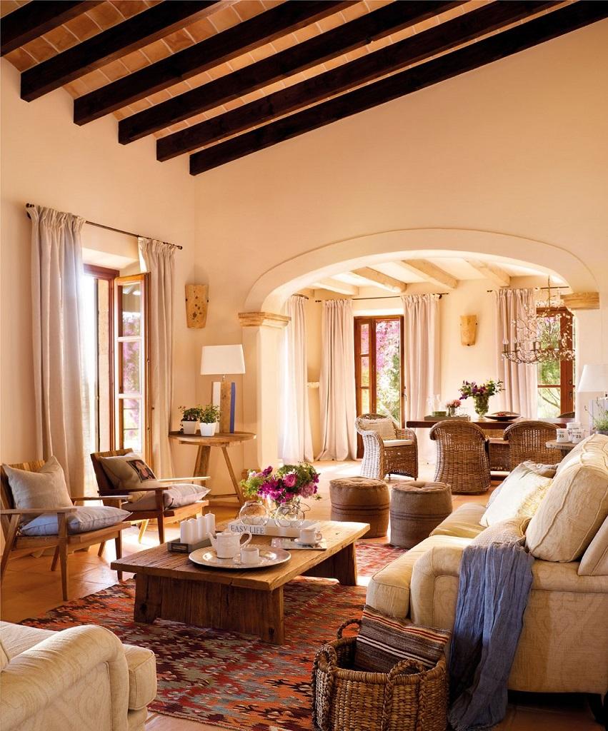 salon comedor2 - Paraíso de luz y buganvillas en una preciosa casa en Santanyí (Mallorca, Baleares)