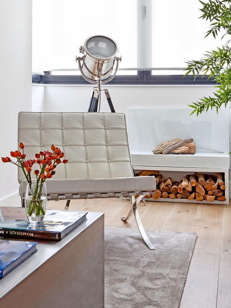 """salon detallechimenea 768x1024 - Toque """"trendy"""" en Madrid, en un precioso loft cálido, femenino y moderno"""