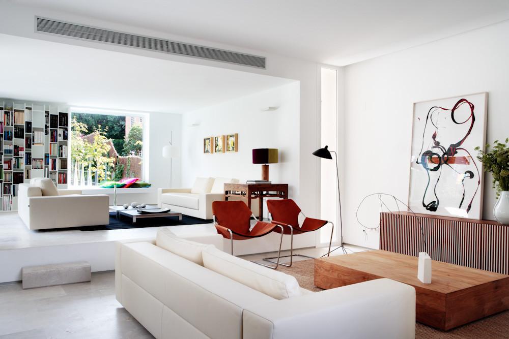 salon1 24 - Diseño contemporáneo y luz otoñal en una preciosa casa en Madrid